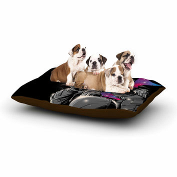 """Digital Carbine """"A Touch Of Whimsy"""" Black Fantasy Dog Bed"""