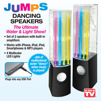 Jumps Dancing Water and Light Show Speakers- Set of 2
