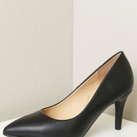 Classic Pointed Toe Pumps Black
