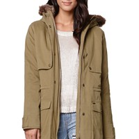 Billabong Lilli Parka Jacket - Womens Jacket - Green
