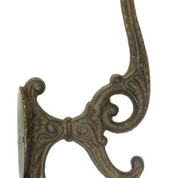 Cast Iron Solid Cast Iron Victorian Coat Hook -Set Of 2