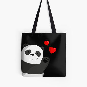'Cute panda' Tote Bag by ValentinaHramov