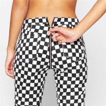Women's Fashion Winter Hot Sale Sexy Plaid Casual Pants [190508138521]