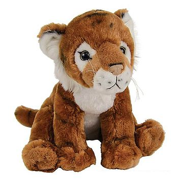 "11"" Tiger Stuffed Animal Plush Floppy Zoo Species Collection"