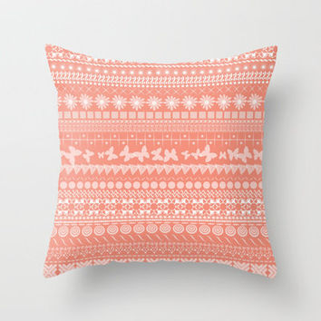 Coral-Licious Throw Pillow by Shawn Terry King | Society6