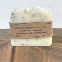 Lemongrass & Poppy Seed Soap