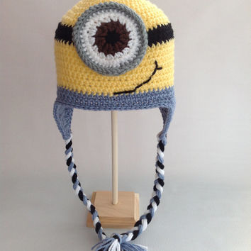 Minion Hat - Despicable Me Hat  - Minion Beanie - Crochet