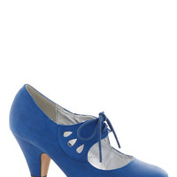 On the Bright Foot Heel in Blue