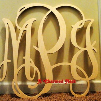 22 Inch Wooden Wall Monogram Letters. Great For Weddings, Birthdays, Gifts,  Nursery