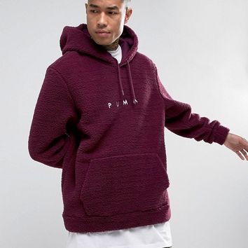 Puma Borg Pullover Hoodie In Purple Exclusive to ASOS 57658202 at asos.com