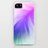 Painted Feather iPhone Case by Ally Coxon | Society6