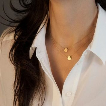 Shiny Gift Stylish New Arrival Jewelry Simple Design Vintage Chain Necklace [7298068871]