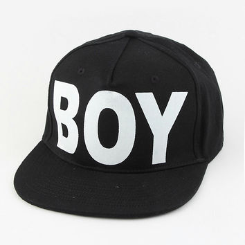 Rihanna Inspired BOY Black & White Snapback Hat