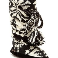 MUK LUKS | MUK LUKS Grace Braided Tassel Knit Slipper Boot | Nordstrom Rack