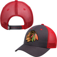 Chicago Blackhawks Zephyr Basic Trucker Snapback Adjustable Hat – Charcoal
