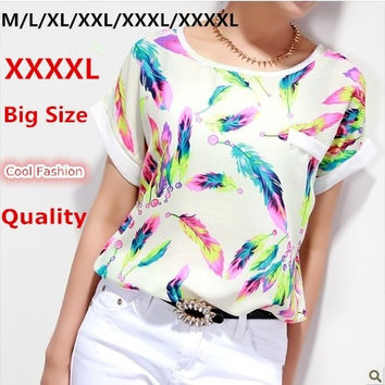 Spring Female T Shirt Bright Color XXXL 4XL Plus Size Camisas Femininas Women Tops Tee Shirt Summer Clothing T Shirt Women = 1958506884