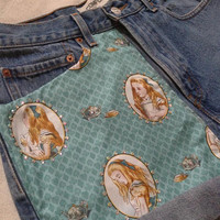 Alice in Wonderland Shorts with Crystals