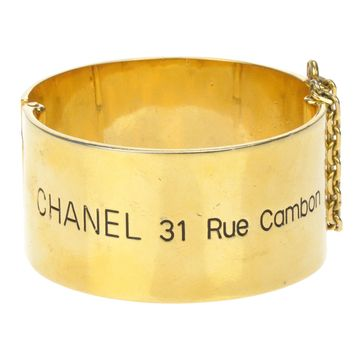 Chanel Vintage 31 Rue Gambon Cuff Bracelet Bangle