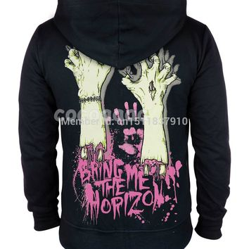 Bring Me The Horizon Cotton Rock hoodies winter jacket brand punk hardrock death heavy metal Zipper sweatshirt XXXL fleece