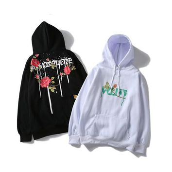 New hot VETEMENTS Hooded sweater star with the oversize letter embroidered men and women plus cashmere loose thick coat