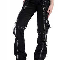 Living Dead Souls Defiance Pants - Black/Silver :: VampireFreaks Store :: Gothic Clothing, Cyber-goth, punk, metal, alternative, rave, freak fashions
