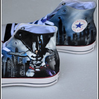 Batman Converse, Unisex High Tops, Mens Shoes, Converse Sneakers, Custom Painted Shoes