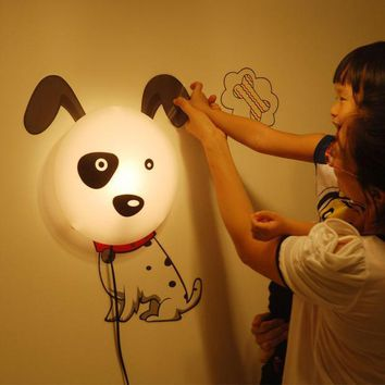 ac PEAPON Creative Balloon Dogs Lights Children Diy Cartoons LED Wall Sticker [6272071046]