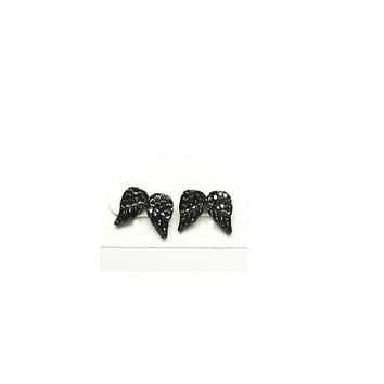 Wings with Black Stones Fashion Earring