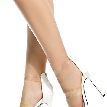 White Faux Leather Clear Multi Strap Heels @ Cicihot Heel Shoes online store sales:Stiletto Heel Shoes,High Heel Pumps,Womens High Heel Shoes,Prom Shoes,Summer Shoes,Spring Shoes,Spool Heel,Womens Dress Shoes