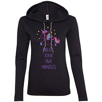Create Your Own Miracles Tops - Purple Unicorn