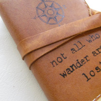 small leather journal sketchbook handprinted custom for by inblue