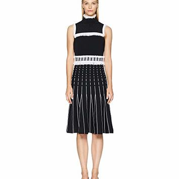 Prabal Gurung Viscose Knits Turtleneck Sleeveless Dress