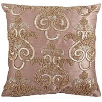 Soren Beaded Damask Pillow