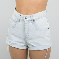 Vintage (Size XS) 80s Forenza Distressed High Waisted Denim Shorts