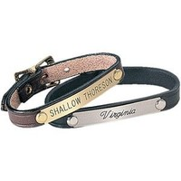 Stablemate Brown/Brass Leather Bracelet | Dover Saddlery