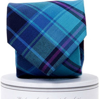 Spyglass Plaid Tie Blue Green