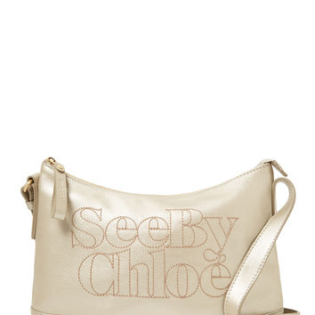 See by Chloe Women's Leather Stitched Logo Crossbody - Brown