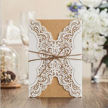 1pcs Sample Hollow Laser Cut Wedding Invitations Card
