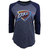 Oklahoma City Thunder NBA Womens Triblend Raglan T-Shirt