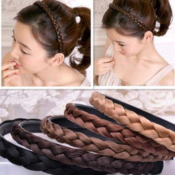 VONE9IB Vintage Braided Headband