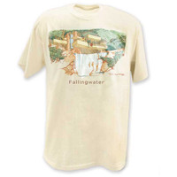 Frank Lloyd Wright Fallingwater Perspective T-Shirt