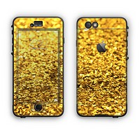 The Gold Glimmer Apple iPhone 6 Plus LifeProof Nuud Case Skin Set