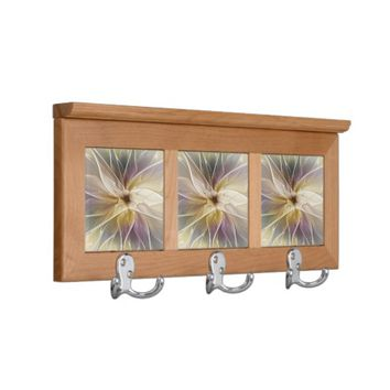 Floral Fantasy Pattern Abstract Fractal Art Coat Rack