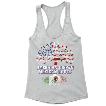XtraFly Apparel Women's American Grown Mexican Heritage Racer-back Tank-Top