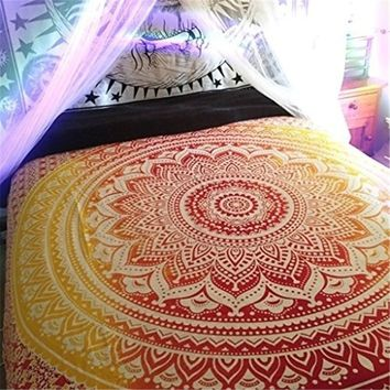 Indian Queen Mandala Home Decor Mandala Tapestry Wall Hanging Multifunctional Tapestry Boho Printed Bedspread Cover Yoga Mat Bla