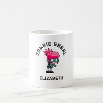 Cute Punk Rock Zombie Grrrl Coffee Mug