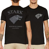 Winter is Coming STARK Game of Thrones men fashion 2017 fitness tees