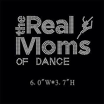 Dance  Mom Iron on Hotfix Rhinestone Transfers - DIY cheer transfer for shirts and tees - The Real Moms of dance