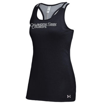 Oklahoma State Cowboys Under Armour Women's Victory Performance Tank Top – Black