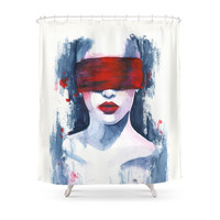 Society6 Blind Love Is Shower Curtains